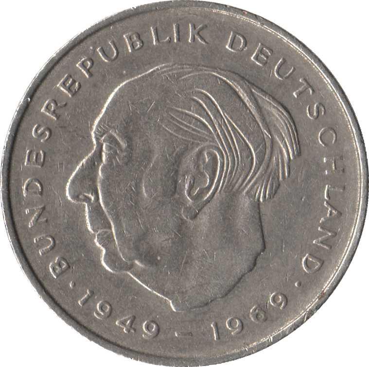 2 Deutsche Mark (Theodor Heuss) - Germany - Federal Republic – Numista