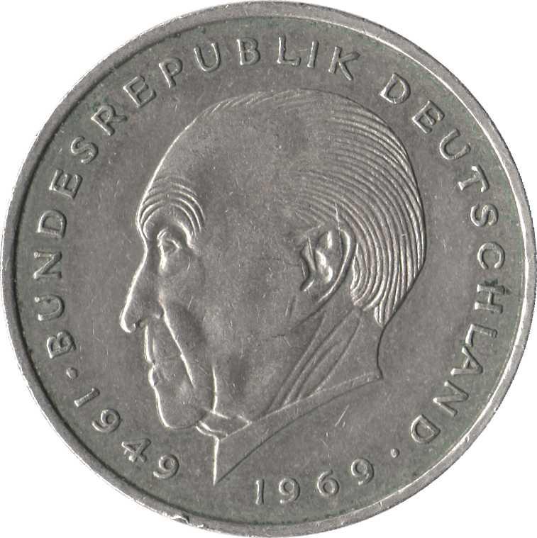 1974 Deutsche Mark 2 2 Deutsche Mark Konrad