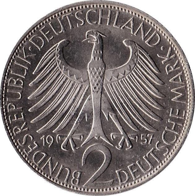 2 Deutsche Mark Max Planck Germany Federal Republic Numista