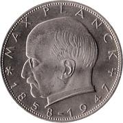 2 Deutsche Mark (Max Planck) – obverse