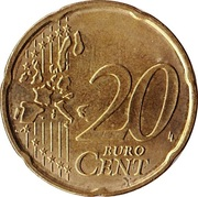 20 Euro Cent (1st map) -  reverse