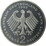 2 Deutsche Mark (Willy Brandt) – obverse