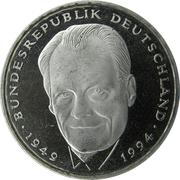 2 Deutsche Mark (Willy Brandt) – reverse