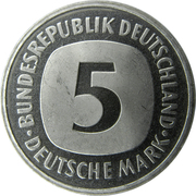 5 Deutsche Mark -  obverse