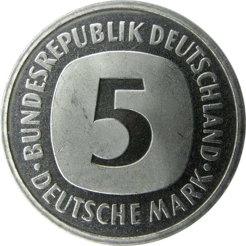 5 deutsche mark allemagne r publique f d rale numista. Black Bedroom Furniture Sets. Home Design Ideas