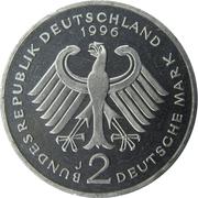2 Deutsche Mark (Ludwig Erhard) – obverse