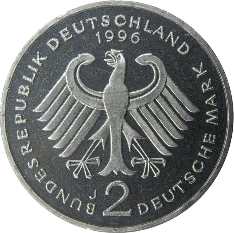 2 Deutsche Mark Ludwig Erhard