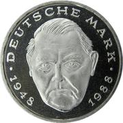 2 Deutsche Mark (Ludwig Erhard) – reverse