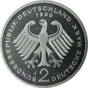 2 Deutsche Mark (Franz Josef Strauss) – reverse