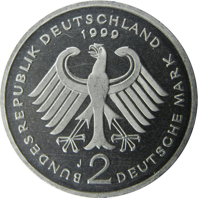 2 Deutsche Mark Franz Josef Strauss