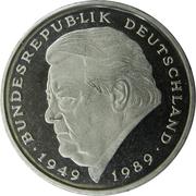 2 Deutsche Mark (Franz Josef Strauss) – obverse