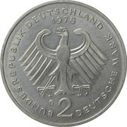 2 Deutsche Mark (Konrad Adenauer) -  obverse
