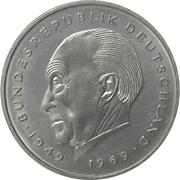 2 Deutsche Mark (Konrad Adenauer) – obverse