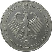 2 Deutsche Mark (Kurt Schumacher) – obverse