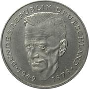 2 Deutsche Mark (Kurt Schumacher) – reverse