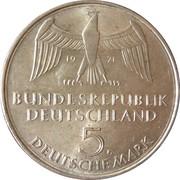 5 Deutsche Mark (100 Jahre Deutsches Reich) -  obverse