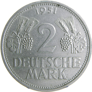 2 Deutsche Mark – reverse