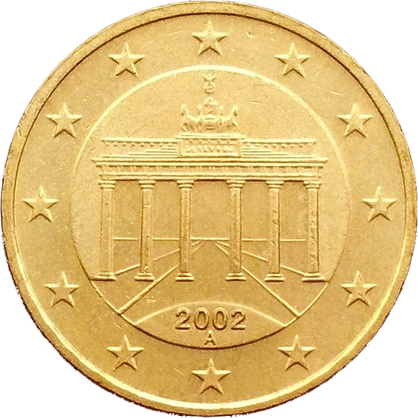 10 Euro Cent 1st Map Germany Federal Republic