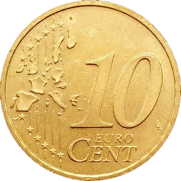 10 Euro Cent 1st Map Germany