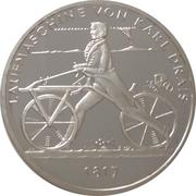 20 Euro (Laufmaschine von Karl Drais) -  reverse