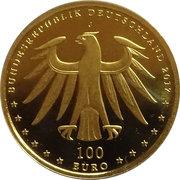 100 Euro (Luthergedenkstätten Eisleben und Wittenberg) -  obverse