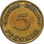 5 Pfennig (Bank of German States) – reverse
