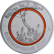 "5 Euro (""Subtropical Zone"") -  reverse"