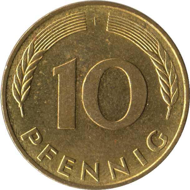10 pfennig 1976 цена ульяновская область монета 10 рублей тираж