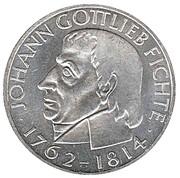 5 Deutsche Mark (Gottlieb Fichte) – reverse