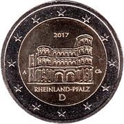 """2 Euro (Bundesländer - """"Rheinland-Pfalz"""") – obverse"""