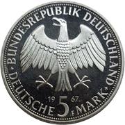 5 Deutsche Mark (Wilhelm and Alexander von Humboldt) – obverse