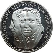 5 Deutsche Mark (Wilhelm and Alexander von Humboldt) – reverse