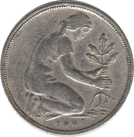 munzwert 50 pfennig 1949 g