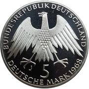 5 Deutsche Mark (Friedrich Wilhelm Raiffeisen) -  obverse