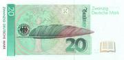 20 Deutsche Mark – reverse