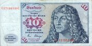 10 Deutsche Mark – obverse