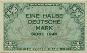 ½ Deutsche Mark – obverse