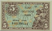 5 Deutsche Mark – obverse