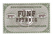 5 Pfennig (Federal Treasury Note) – obverse
