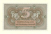 5 Pfennig (Federal Treasury Note) – reverse