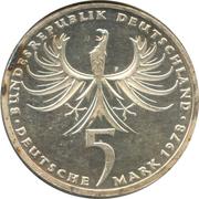 5 Deutsche Mark (Balthasar Neumann) -  obverse