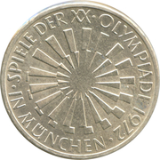 10 Deutsche Mark (Olympic Games in Munich) -  obverse