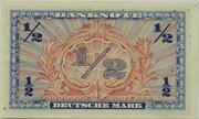 ½ Deutsche Mark – reverse