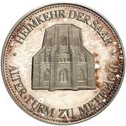 5 Deutsche Mark (Saar - Pattern) – reverse