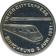 Medal - History of Railway (Intercity Express) -  obverse
