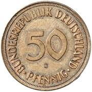 50 Pfennig (Pattern) – reverse