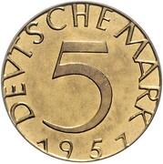 5 Deutsche Mark (Pattern) – reverse