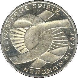 10 Deutsche Mark Olympic Games In Munich Germany Federal