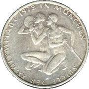 10 Deutsche Mark (Olympic Games in Munich) -  reverse