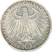 10 Deutsche Mark (Olympic Games in Munich) -  obverse